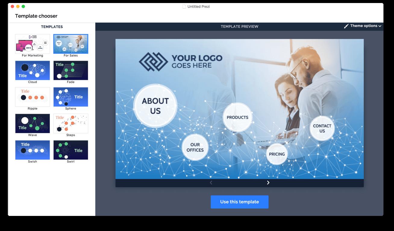 Sales Template Screenshot